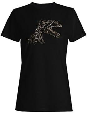Nuevo Esbozo De Fósil De Dinosaurio camiseta de las mujeres h799f