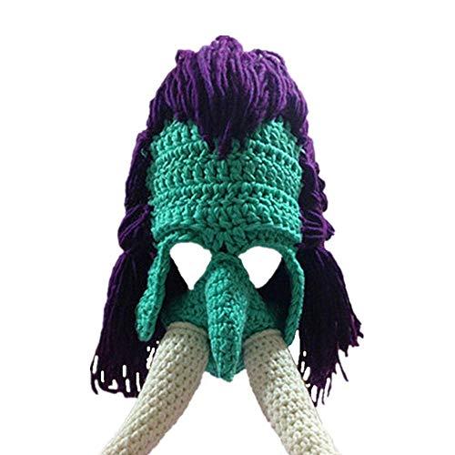 Ateasy HUT0000238 hüte fasching Komisch Monster Maske Häkeln Perücke Wollmütze halloweenmaske frauen geschenke zum geburtstag weihnachtsgeschenke für männer wintermütze junge mützen herren (blau)