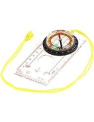 IntiPal Kartenkompass Kompass Taschenkompass mit Lupe Orientierung Lineal Flüssigkeit für Trekking Wandern Camping Outdoor