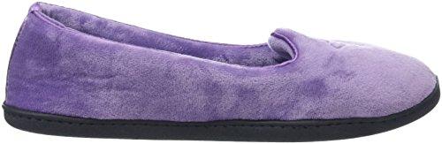 Dearfoams Damen Velour Closed Back W/Embr Sneaker Purple (Smokey Purple)