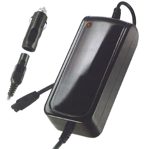 Vivanco Fahrzeug/Flugzeug Netzteil für Notebooks 120W (von 15V bis 24V mit 12 Steckern passend für alle gängigen Geräte) schwarz -