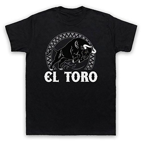 My Icon Art & Clothing el Toro Spanish Bull Camiseta Para Hombre, Negro, Small