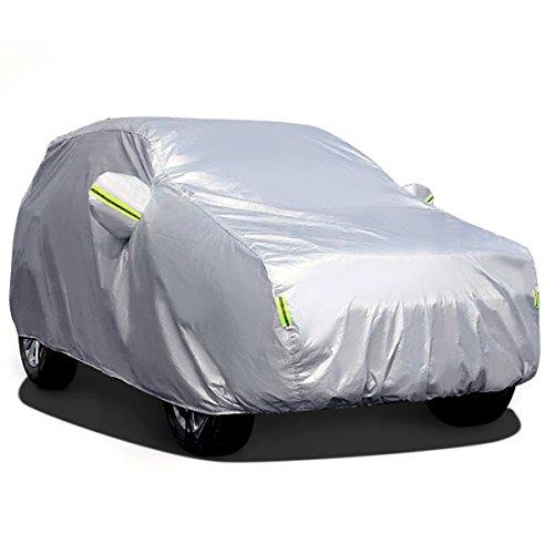 Funda Exterior del Coche MATCC Lona para coche Cubierta de Coche Impermeable Resistente al Polvo, Lluvia, Rasguño y Nieve para SUV(485*190*185cm)