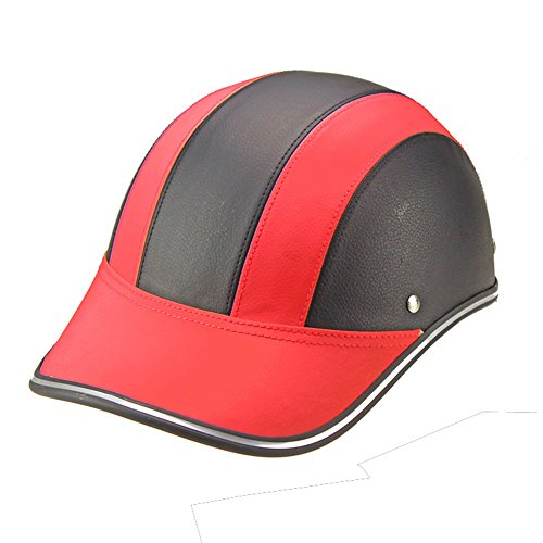 CYSTYLE Motorradhelm Sommer Baseball Cap Stil Frauen Männer öffnen Half Face Helm mit verstellbaren Strap Harley Driver Protector (Baseball Tragen)