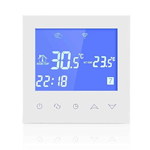 Minzhi Wasser Fu?boden-Heizungs-Thermostat mit Touchscreen Smart-WIFI Programmierbare Temperaturregler mit LCD-Anzeige 3A 200-240V (Programmierbare Lcd-anzeige)