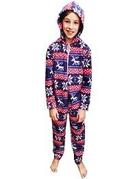Chic London Snowflake Reindeer Kids Onesie