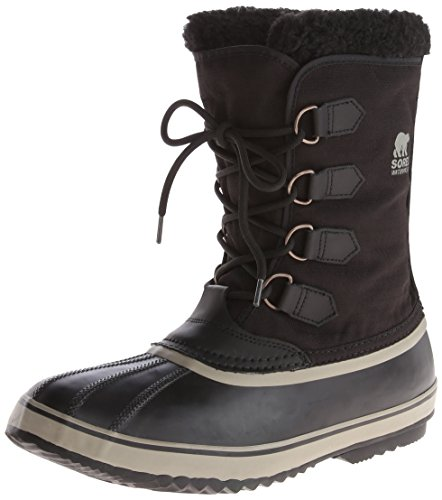 Sorel 1964 Pac Nylon, Men Snow Boots, Black (Black, Tusk 011), 9 UK (43 EU)