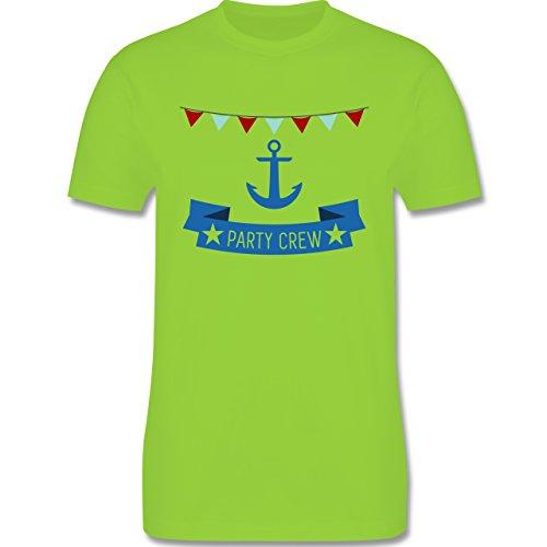 JGA Junggesellenabschied - Party Crew Anker - Herren Premium T-Shirt Hellgrün