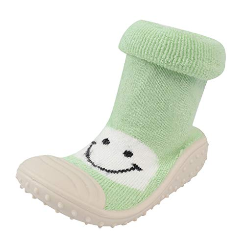 MERICAL Baby Girls Shoes Infant Toddler Boys Cartoon Smile Winter Warm Prewalker Socks Shoes