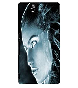 ColourCraft Scary Girl Design Back Case Cover for SONY XPERIA Z1