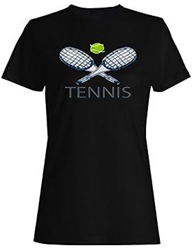 Tenis Agua Colores Juego Jugar camiseta de las mujeres o29f