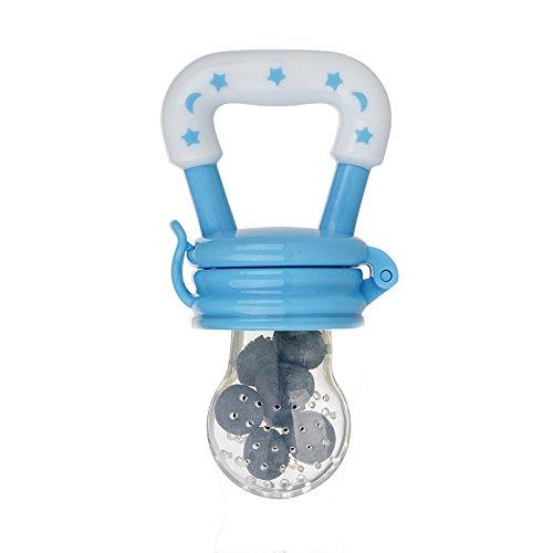 Enkman Ek-BB317TT - Fruchtsauger,Sicherer und Spaß Baby Frucht Sauger Gemüsesauger für Solide Frische Lebensmittel, BPA Freier Schnuller für 3 Monate und älter Babys und Säuglinge (Blau)