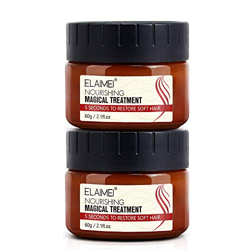 2 Pack Hair Treatment Mask Magical Hair Conditioner 5 Seconds Hair Root Repair Dry and Damaged Hair,Recover Elasticity Hair,Nourishing Soft Hair 60ML
