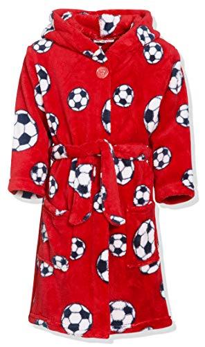 Playshoes Jungen Fleece Fußball Bademantel, Rot (rot 8), 146/152