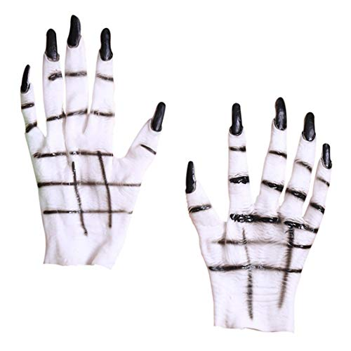 Kostüm Für Handschuhe Masquerade Erwachsene Black - Halloween Hände Latex Handschuh Dress Up Party Ghost Claw Kostümhandschuh Cosplay-Handschuhe Neuheit Handschuh Kostüm Prop