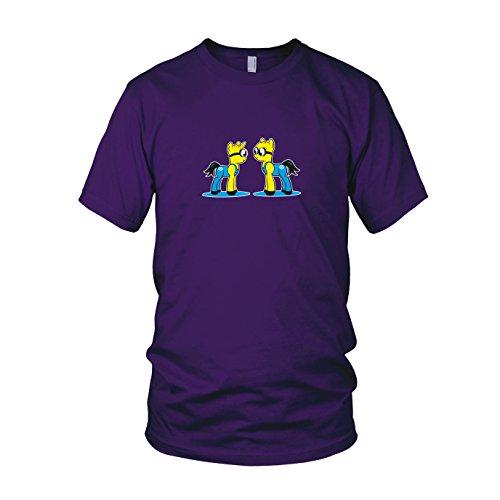 My Little Bananas - Herren T-Shirt, Größe: XXL, Farbe: (Lila Despicable Me Kostüme)