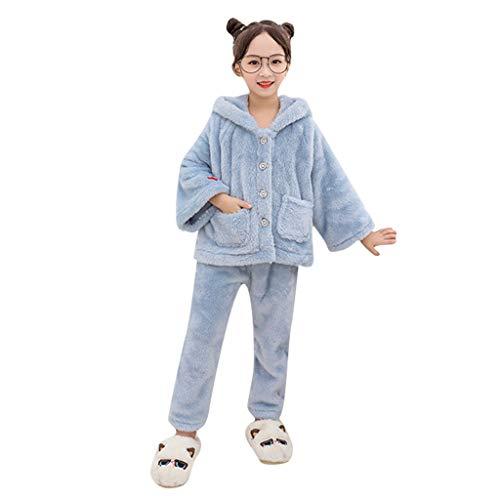 Livoral Kinder Winter MantelKleinkindkindmädchenwinter-Imitatpelzohr mit Kapuze Manteljacke keucht warmen Mantel(Blau,130) (Red Tutu M&m Teen Kostüm)