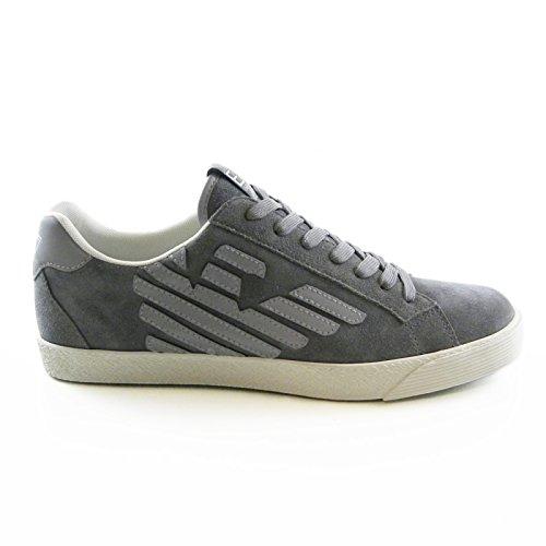 Scarpe uomo EA7 EMPORIO ARMANI, sneaker grigio art. 278038 CC299 (45 1/3, Grigio)