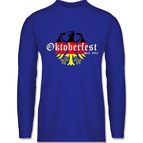 Oktoberfest Herren - Oktoberfest Seit 1810 Deutschland Germany Adler - Herren Langarmshirt Royalblau