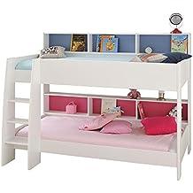 venteunique camas literas con estantera integrada reversible x x