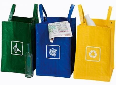 3 Müll Sortiertaschen Recycling Tasche Gewebetaschen Abfallsammler Abfall