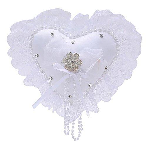 bpblgf Romantische Hochzeit Ringkissen Herz Ring Kissen Schmuck Box, 03, 20X20cm