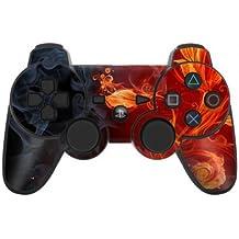 Sony Playstation 3- Lámina protectora adhesiva para mando de PS3, Flower of Fire