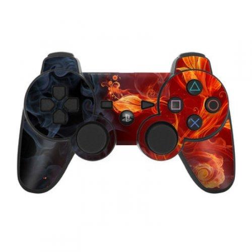 Skins4u Playstation 3 Controller Skin - Design Sticker Set für PS3 Gamepad - Flower Of Fire
