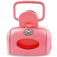 Deanyi Pooper Scooper para Mascotas Caja de Recoger Excremento Orinal de Mascota al Aire Libre (Rosa)