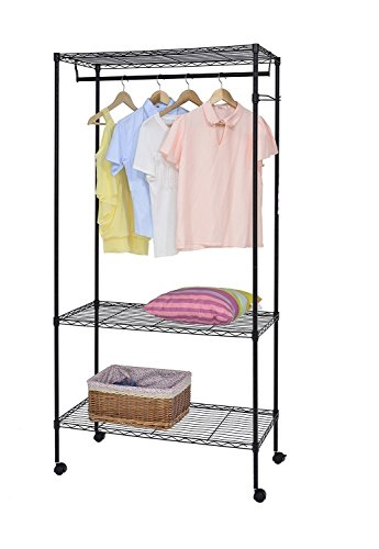 Callas 3-Tier Garment rack with Cover and Wheels