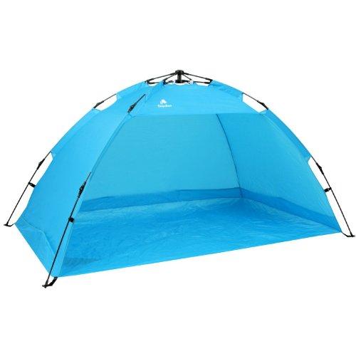 CampFeuer - Strandmuschel, hellblau, UV50+, Strand Zelt, beach tent