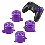 Sony Playstation 4 Dualshock 4 Controller Face Tasten Buttons Joystick Aluminium Metall Kugel Bauteile Ersatzteile Zubehör für PS4 (Bullet Purple)