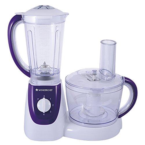 Wonderchef 63152268 1000-watt Food Processor With Safety Lock (white/purple)
