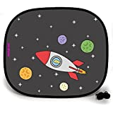 123t ANI-MATES DINO SPACESHIP PLAIN Baby/Child Vehicle Sunshade x 1 birthday funny gift for him for her