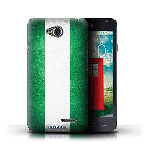 Kobalt® Imprimé Etui / Coque pour LG L65/D280 / Chili/Chiliean conception / Série Drapeau Nigeria