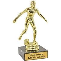 Die Fußballer-Statue mit Ihrer persönlichen Namens-Gravur - ein tolles Geschenk für Fußball-Fans