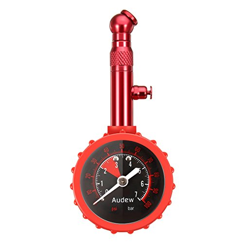 Audew Reifendruckprüfer Reifenfüller Reifenfüll-Messgerät Reifendruckmesser Multifunktion Luftdruckprüfer 0~7 bar