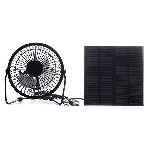 r Panel Iron Fan 4 Zoll Cooling Ventilation Lüftungsventilator Für Telefon Für Outdoor-Traveling Fishing Home Office ()