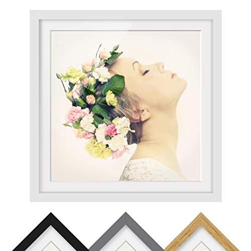 inzessin Schneeweißchen - Rahmenfarbe Weiß, 50 x 50 cm ()