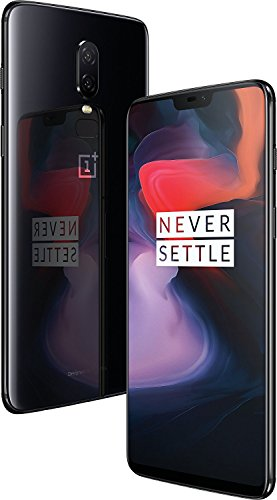 (Certified Refurbished) OnePlus 6 (Mirror Black, 6GB RAM, 64GB Storage)