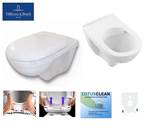 Preisvergleich Produktbild V&B Onovo WC, Tiefspüler, Spülrandlos, Deckel abnehmbar, Beschichtung