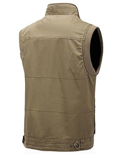Frühling Taschen Der Beiläufigen Männer Weste Kragen Weste Green