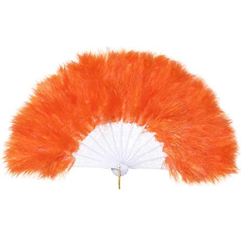 Coucoland Mädchen Feder Fächer Vintage Kinder Handfächer 1920s Great Gatsby Mädchen Fasching Kostüm Accessoires Zubehör ()