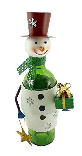 Wein Bodies zb1460Weihnachten Schneemann Metall Weinflaschenhalter, multicolor (Weihnachts-display Schneemann)