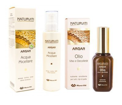 Argan Olio Viso Decolleté 30 ml + Acqua Micellare 200 ml - Naturviti