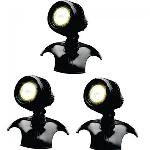 AQUAFORTE Jardin et étang Lampes LED HP6–3, 3 x 6 W, 12 V, noir