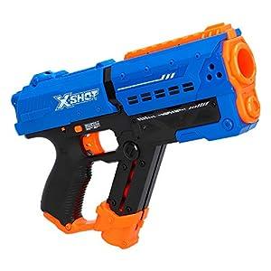 X-Shot- Pistola de Bolas gomaespuma Meteor Blaster Chaos (ColorBaby 46274)