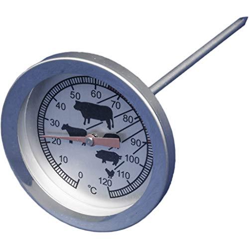 amaux Analoges Fleisch-Thermometer Braten-Thermometer Ofen-Thermometer