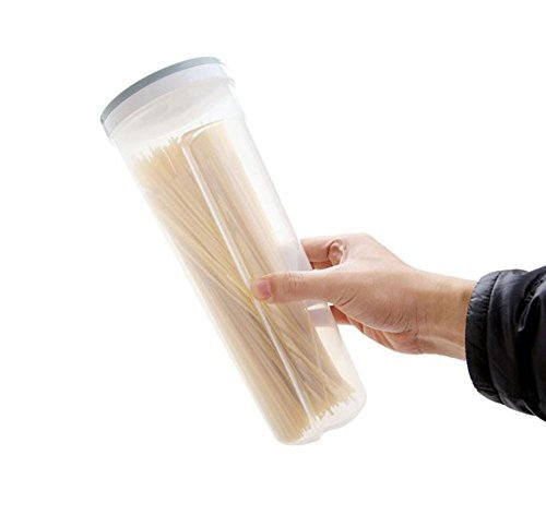 Hosaire 1 Stück Multifunktional Spaghetti/Pasta/Nudel Kunststoff Vorratsdose Snacks Essstäbchen Behälter Kanister mit Deckel,Zufällige Farbe
