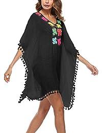 0b8d6b702a0d PassMe Copricostume Mare Donna Scollato V con Palla Costume da Bagno Abito  da Spiaggia Camicetta Tops